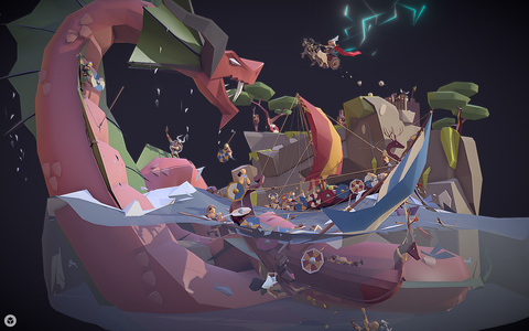 Thor and the Midgard Serpent by MrEmjeR on Sketchfab  .png